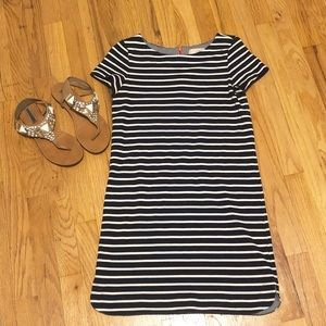 Loft striped shift dress, size XS